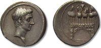 AR Denarius 30-27 B.C. ROMAN REPUBLIC Octa...