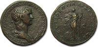 AE sestertius 114-117 A.D ROMAN EMPIRE Tra...