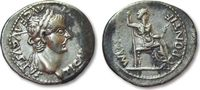AR denarius 14-37 A.D. ROMAN EMPIRE Tiberi...