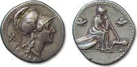 Denarius 115-114 B.C ROMAN REPUBLIC anonym...