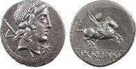 Roman Republic Pub.Crepusius denarius 82BC. almost