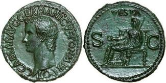 Æ As 37 - 41 AD Imperial CALIGULA 37 - 41 AD. , 11.01g. RIC 38