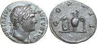 AR Denarius 124 - 128 AD Imperial HADRIANUS, Rome/IMPLEMENTS vz-  280,00 EUR  +  12,00 EUR shipping