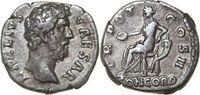 AR Denarius 136 - 138 A Imperial AELIUS 13...