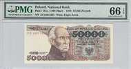 50.000 Zlotych 1989 Poland POLAND P.153a -  1989 PMG 66 EPQ PMG Graded ... 80,00 EUR  +  12,00 EUR shipping