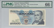 000 Zlotych 1990 Poland POLAND P.154a - 100. 1990 PMG 66 EPQ PMG Graded... 80,00 EUR64,00 EUR  +  12,00 EUR shipping