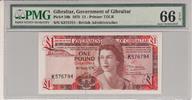 1 Pound 1979 Gibraltar GIBRALTAR P.20b -  1979 PMG 66 EPQ PMG Graded 66... 100,00 EUR  +  12,00 EUR shipping