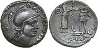 AR Denarius 46 - 45 BC  Republican ROMAN R...