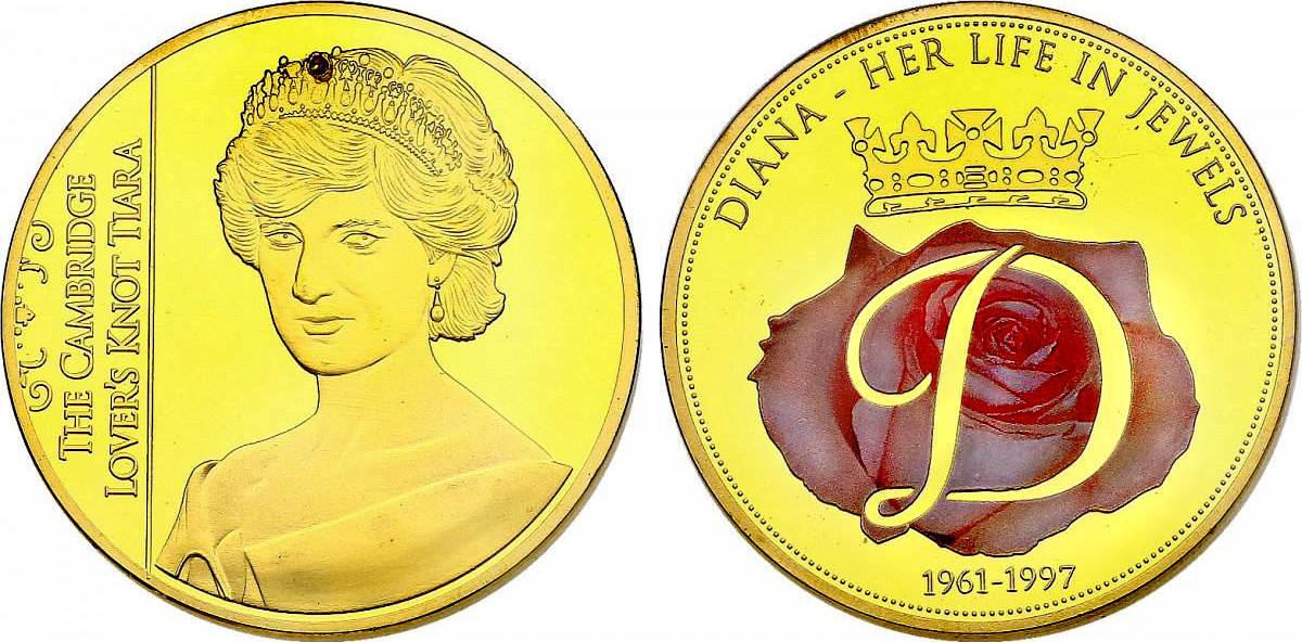 Medaille 2012 Großbritannien Serie Diana Her Life In Jewels