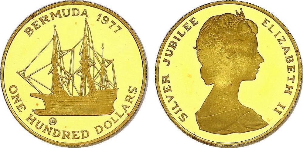 100 Dollar 1977 Bermuda