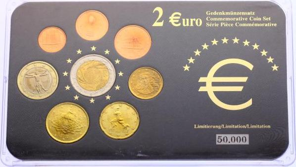 Kms 1 Cent 2 Euro 200204 Italien Kursmünzensatz 2002 Inkl 2
