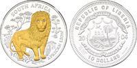 10 Dollar 2004 Liberia Südafrika - Löwe pp...