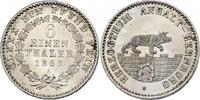 1/6 Taler 1862 A Deutschland - Anhalt  stgl.