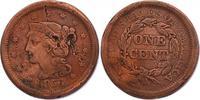 "Cent 1856 USA ""Braided Hair"" ss/..."