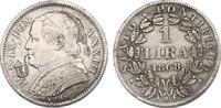 Lira 1868 R (XXI Vatikan Papst Pius IX. (1...