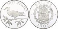 50 Dollar 1985 Belize Vogel auf Zweig pp.