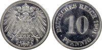 10 Pfg 1901-E Deutsches Reich German Empir...