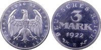 3 RM 1922-E Wemarer Republik Weimarer Reic...