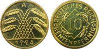 10 Rentenpfennig 1924-A Weimarer Republik Rentenpfennig PP fein, Kontra... 785,00 EUR  +  15,00 EUR shipping