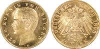 10 RM 1893-D Kaiserreich Bayern König Otto...