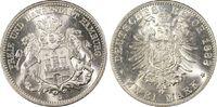 2 RM 1888-J Kaiserreich Hamburg Hamburg (F...
