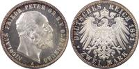 2 RM 1891-A Kaiserreich Oldenburg Nicolaus...