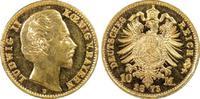 10 RM 1873-D Kaiserreich Bayern König Ludw...