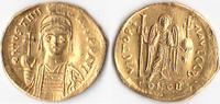 AU-Solidus, 538/545, Byzanz, Iustinianus I...