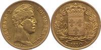 40 Francs Gold 1830  A Frankreich Charles ...