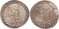 Sachsen-Albertinische Linie 2/3-Taler nach zinnaischem Fuss Johann Georg III. 1680-1691.