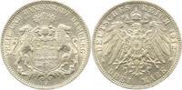 3 Mark 1912  J Hamburg  vorzüglich