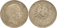 5 Mark 1876  E Sachsen Albert 1873-1902. S...