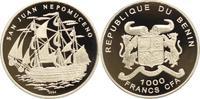 1000 Francs 2004 Benin  Polierte Platte