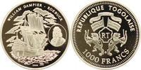 1000 Francs 2004 Togo  Polierte Platte