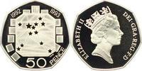50 Pence 1993 Großbritannien Elisabeth II....