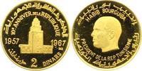 2 Dinars Gold 1967 Tunesien Republik seit ...