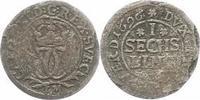 Sechsling 1696  LM Bremen und Verden Karl ...