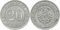 20 Pfennig 1887  A Kleinmünzen  Winz. Bela...