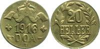 20 Heller 1916  T Deutsch Ostafrika  Präge...