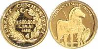 000 Lira Gold 1999 Türkei-Republik Republi...
