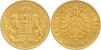 20 Mark Gold 1884  J Hamburg  Sehr schön