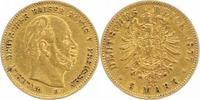 5 Mark Gold 1877  B Preußen Wilhelm I. 186...