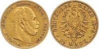 10 Mark Gold 1875  A Preußen Wilhelm I. 18...