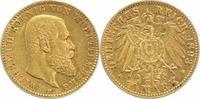10 Mark Gold 1893  F Württemberg Wilhelm I...