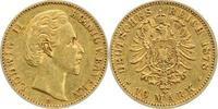 10 Mark Gold 1878  D Bayern Ludwig II. 186...
