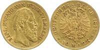 10 Mark Gold 1877  F Württemberg Karl 1864...