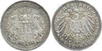 5 Mark 1891  J Hamburg  Sehr schön