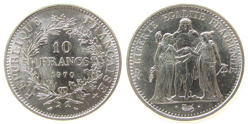 10 francs 1970 frankreich france ag herkulesgruppe au unc ma shops. Black Bedroom Furniture Sets. Home Design Ideas