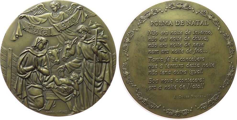 medaille 1970 weihnachten bronze heilige maria und josef. Black Bedroom Furniture Sets. Home Design Ideas