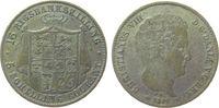 16 Rigsbankskilling 1842 Dänemark Ag Chris...